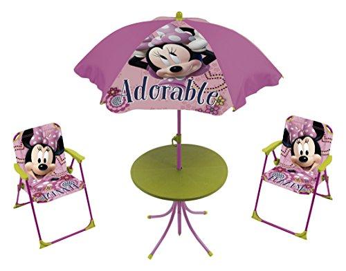 Set Tavolo E Sedie Minnie.Disney Minnie Set Giardino Tavolo Sedie E Ombrellone